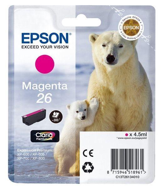 Epson Singlepack magenta 26 Claria T2613