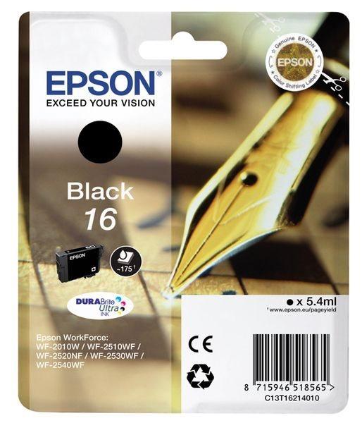 Epson Singlepack schwarz 16 Ultra Ink T1621