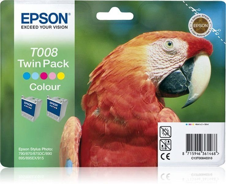 Epson T008 Twin Pack - 2er-Pack - Farbe