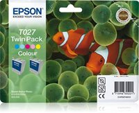 Epson T027 Twin Pack - 2er-Pack - Farbe