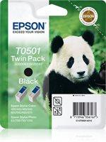 Epson T0501 Twin Pack - 2er-Pack - schwarz