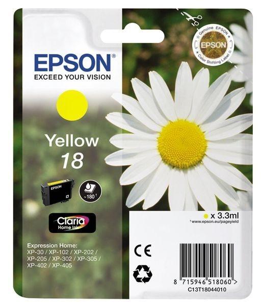 Epson Tinte gelb 18 Claria Home Ink T1804