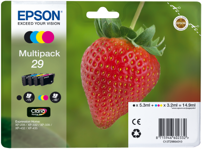 Epson Tinte Multipack 4-Farben 29 T2986