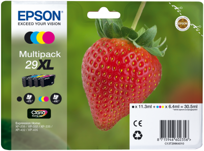 Epson Tinte Multipack 4-Farben 29XL T2996
