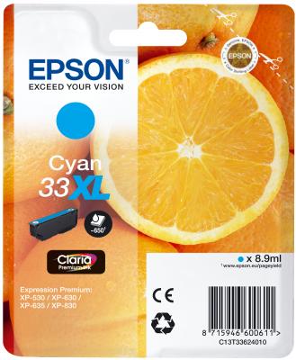 Epson Tinte Singlepack cyan 33XL T3362
