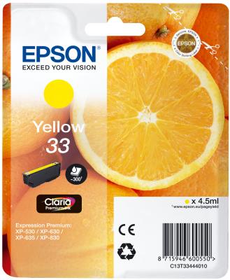 Epson Tinte Singlepack gelb 33 T3344