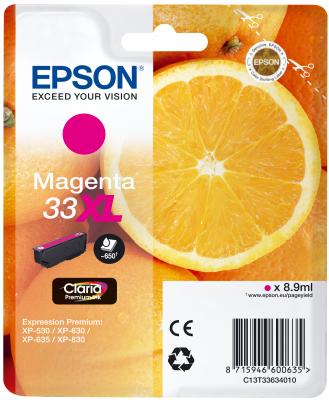 Epson Tinte Singlepack magenta 33XL T3363