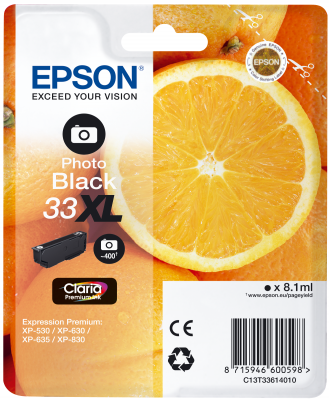 Epson Tinte Singlepack Photo schwarz 33XL T3361