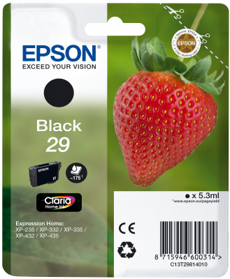 Epson Tinte Singlepack schwarz 29 T2981