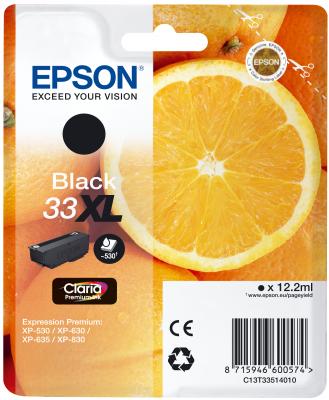 Epson Tinte Singlepack schwarz 33XL T3351