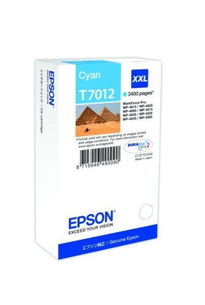 Epson Tintenpatrone cyan XXL , T70124010