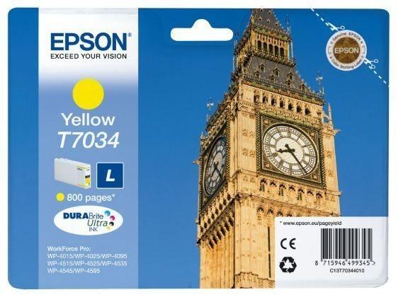 Epson Tintenpatrone gelb , T70344010