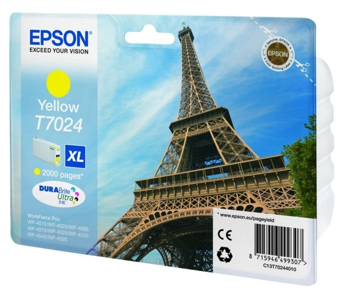 Epson Tintenpatrone gelb XL , T70244010