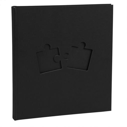 Fotoalbum 60 Seiten, Seiten schwarz PUZZLE - 29x32cm.