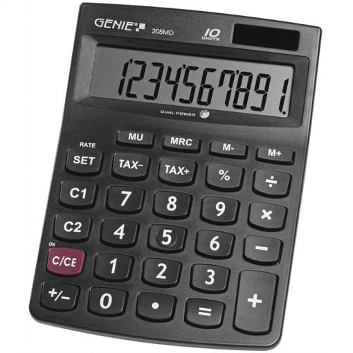 GENIE 205MD Taschenrechner 10-stellig, Solar