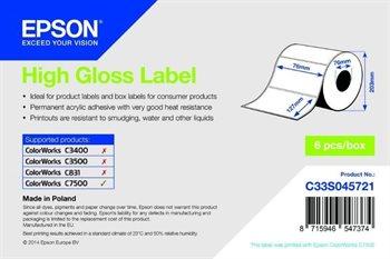 High Gloss Label - Die-cut Roll - C33S045721