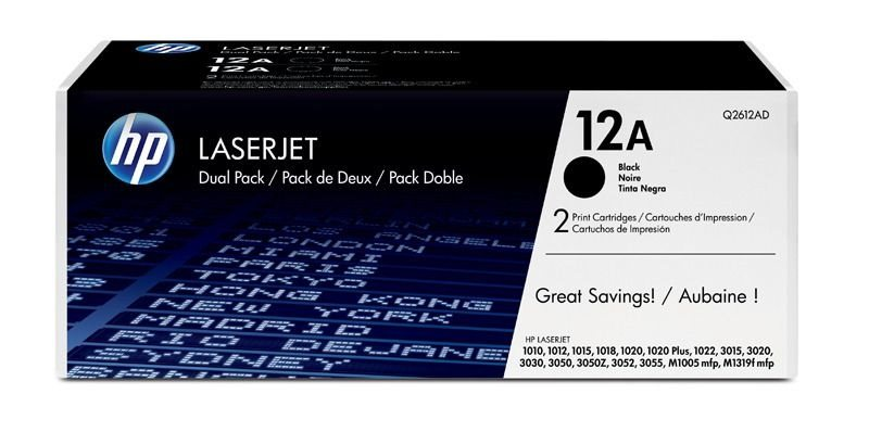 HP 12A original 2er-Pack Toner schwarz - Q2612AD