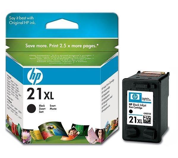 HP 21XL original HC Tinte schwarz - C9351CE