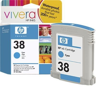 HP 38 original Tinte cyan - C9415A
