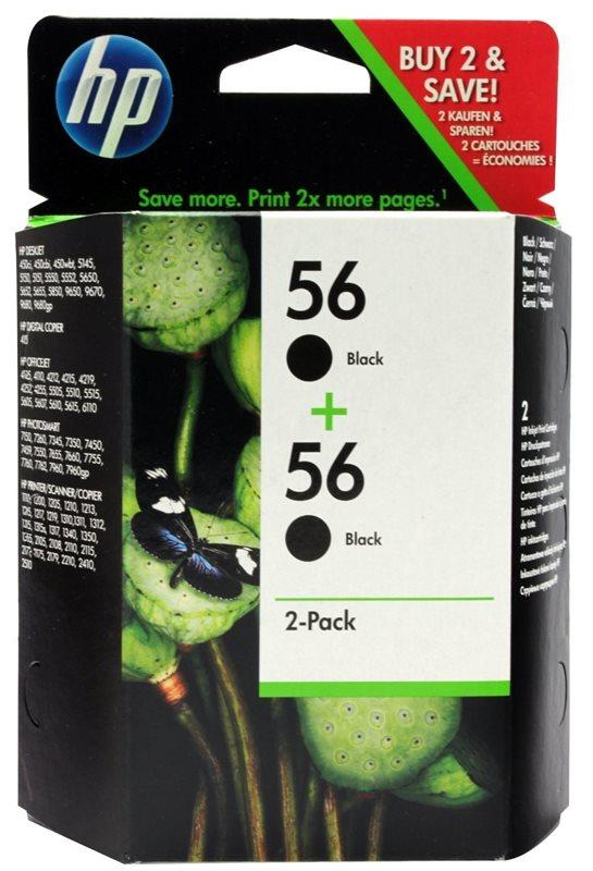 HP 56 original 2er-Pack Tinte schwarz - C9502AE