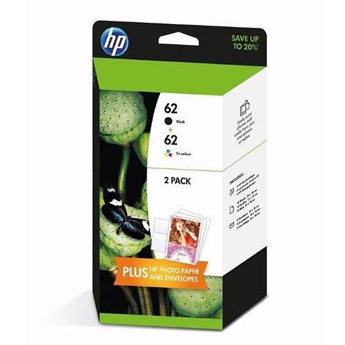 HP 62 2er-Pack Schwarz/Cyan/Magenta/Gelb Original