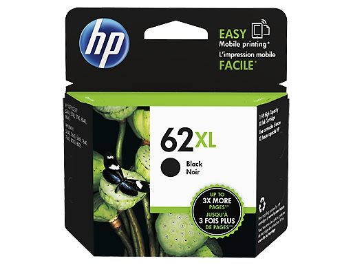 HP 62XL original HC Tinte schwarz - C2P05AE
