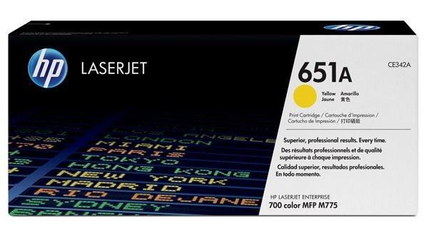 HP 651A original Toner gelb - CE342A
