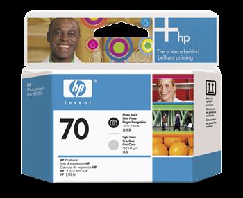 HP 70 Fotoschwarz/Hellgrau DesignJet Druckkopf - C9407A