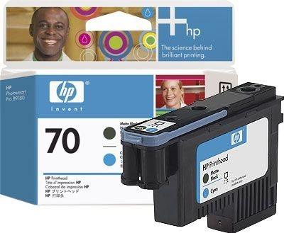 HP 70 Mattschwarz und cyan Druckkopf - C9404A