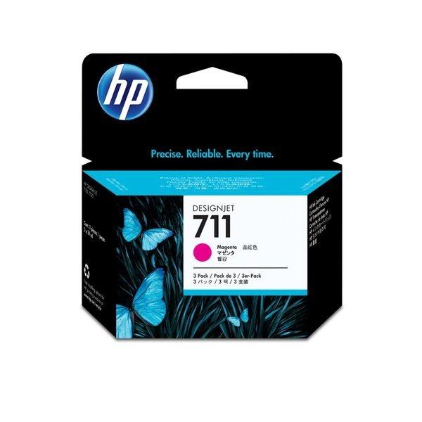 HP 711 original 3er-Pack Tinte magenta - CZ135A