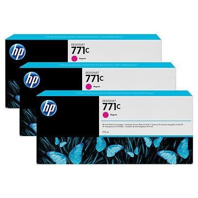 HP 771C original 3er-Pack Tinte magenta - B6Y33A