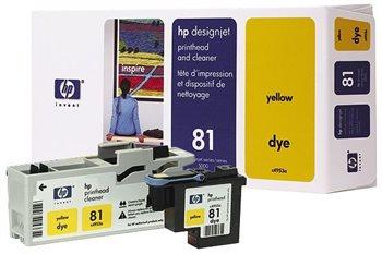 HP 81 gelb DesignJet Druckkopf und Druckkopfreiniger - C4953A