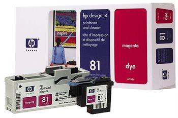 HP 81 magenta DesignJet Druckkopf und Druckkopfreiniger - C4952A