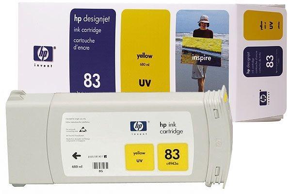 HP 83 original Tinte gelb - C4943A