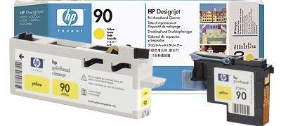 HP 90 gelb Druckkopf und Druckkopfreiniger - C5057A