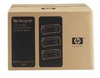 HP 90 original 3er-Pack Tinte gelb - C5085A