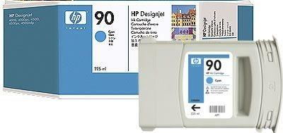 HP 90 original Tinte cyan - C5060A