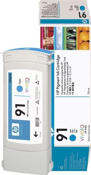 HP 91 original Tinte cyan - C9467A