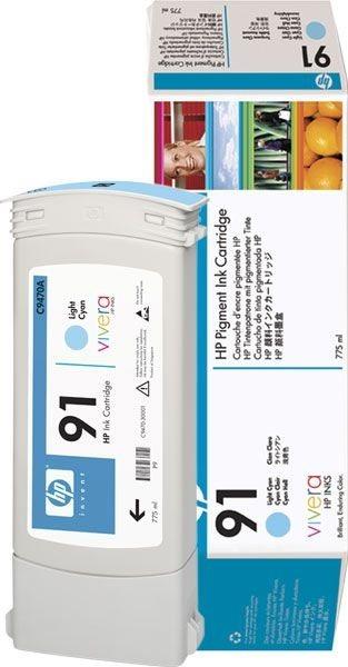 HP 91 original Tinte cyan - C9470A