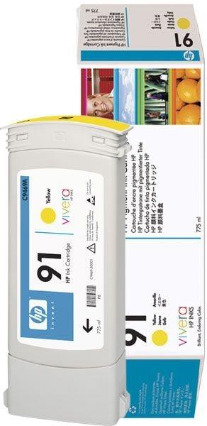 HP 91 original Tinte gelb - C9469A