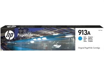 HP 913A original PageWide Tinte cyan - F6T77AE