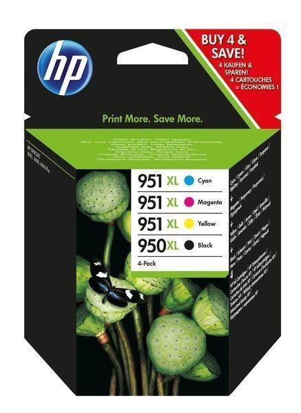 HP HP 950XL/HP 951XL original Xl Tinte schwarz, cyan, magenta, gelb - C2P43AE