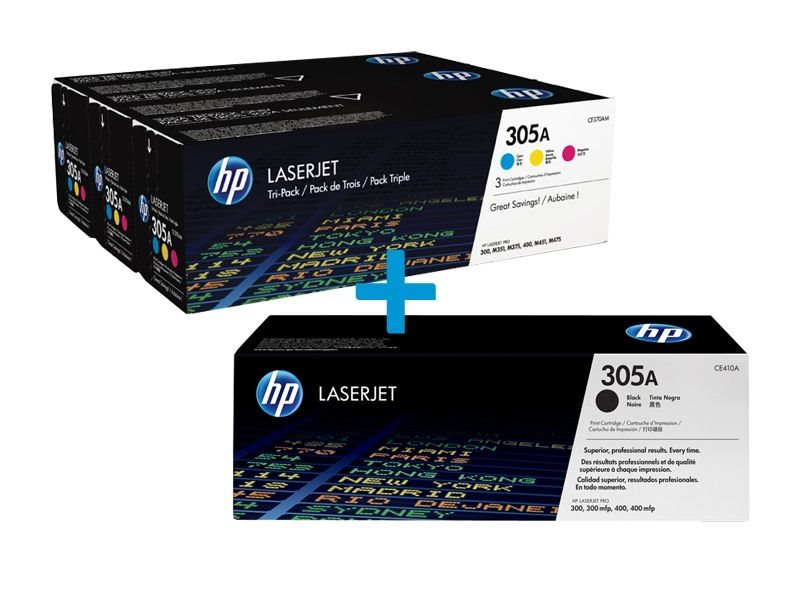 HP Multi-Tonerpaket CE410A+CF370AM