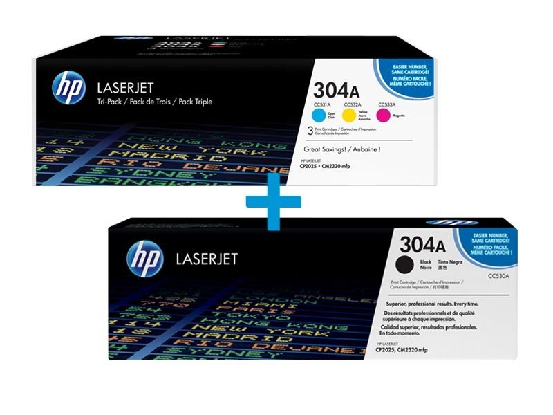 HP Multi-Tonerpaket CF372AM+CC530A