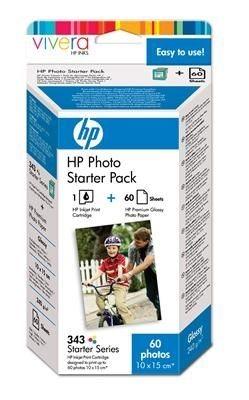 HP Starter Fotoset, Tinte Nr. 343 + Fotopapier