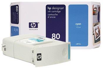 HP Tinte Nr. 80  für DJ 1050C/CM cyan  - C4846A