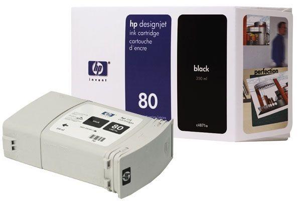 HP Tinte Nr. 80 für DJ 1050 schwarz  - C4871A