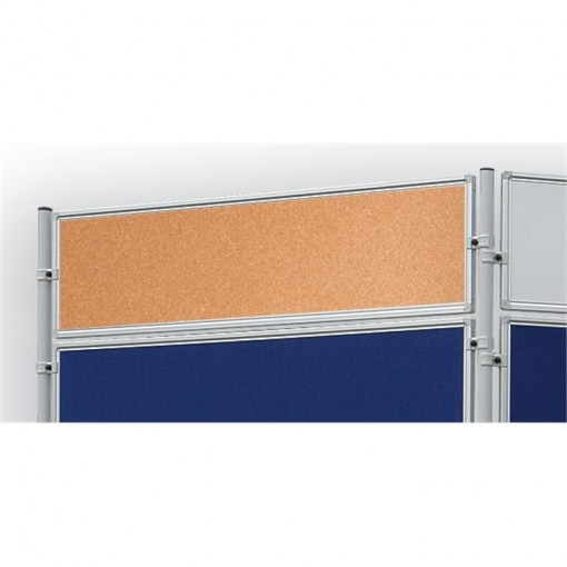 Korktafel ECO, beidseitig verwendbar, 120 x 30 cm, kork