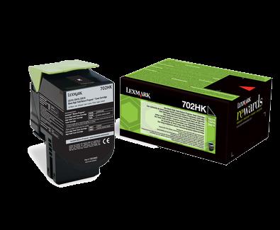 Lexmark 702HK Rückgabe-Toner schwarz - 70C2HK0