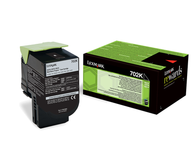 Lexmark 702K Rückgabe-Toner schwarz - 70C20K0